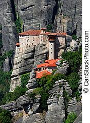 修道院, rousannou, meteora, ギリシャ