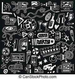 俱樂部, 黨, -, doodles, 音樂