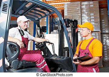倉庫労働者, 倉庫
