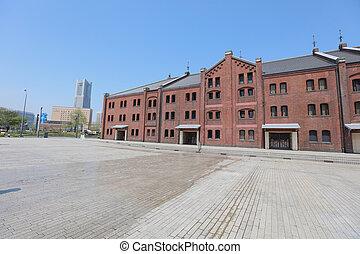 倉庫, れんが, 横浜, 歴史的, 赤