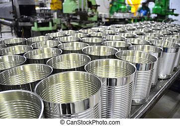倉庫, アルミニウム, 工場, 缶