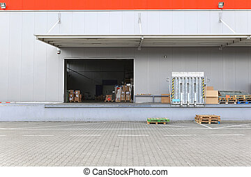 倉庫, ドック, ローディング
