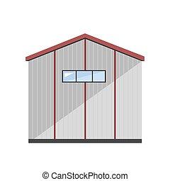 倉庫, ベクトル, 外面, イラスト
