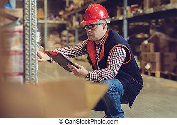 倉庫, マネージャー, クリップボード