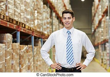 倉庫, マネージャー, 労働者