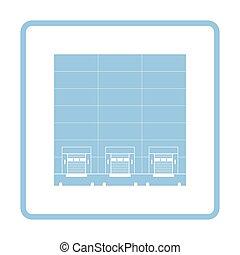 倉庫, ロジスティックである, 概念, アイコン