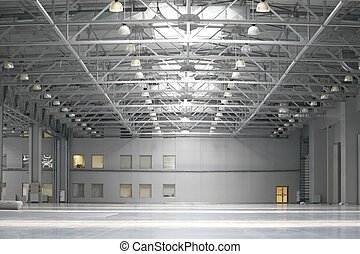 倉庫, 中に, ショッピングセンター