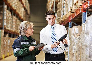 倉庫, 仕事の乗組員