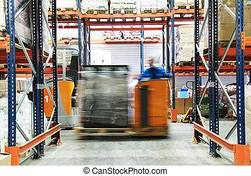 倉庫, 仕事, トラック