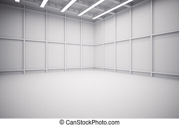 倉庫, 內部, 側視圖