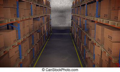 倉庫, 内部