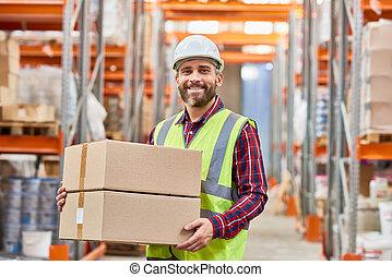 倉庫, 労働者, 出荷