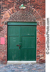 倉庫, 古い, ドア