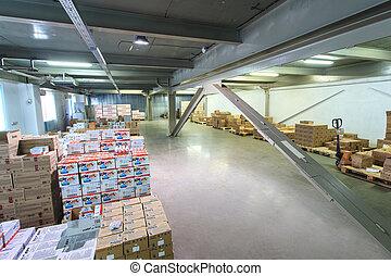 倉庫, 商品, 棚