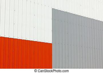 倉庫, 壁, 抽象的, 外面