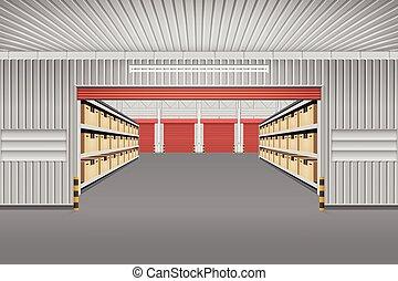 倉庫, 建物, ベクトル