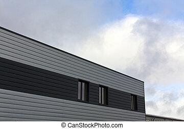 倉庫, 建物。, 灰色