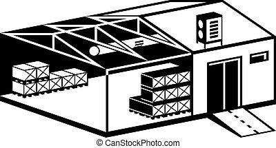 倉庫, 建物, 産業