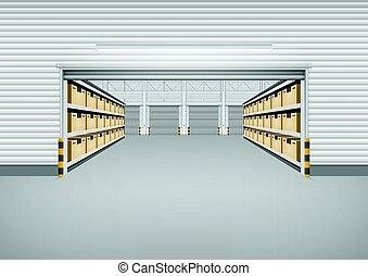 倉庫, 建物, 背景