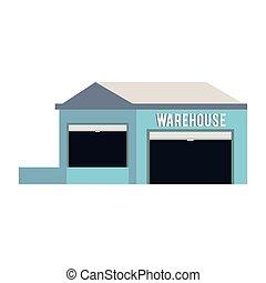 倉庫, 建物, 貯蔵, 隔離された, 空