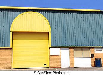 倉庫, 建物, 黄色