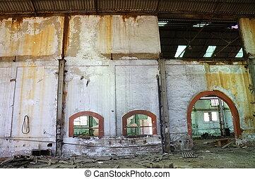 倉庫, 捨てられた, 空