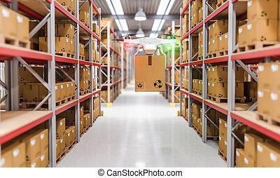 倉庫, 無人機, 仕事