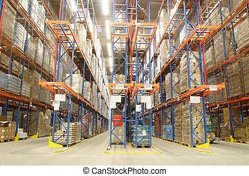 倉庫, 裡面