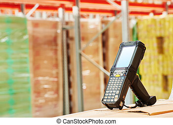 倉庫, barcode, 走査器