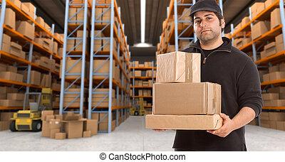 倉庫, deliveryman, h