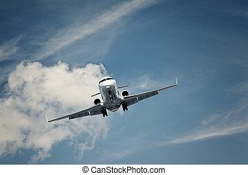 個人のジェット機, 着陸
