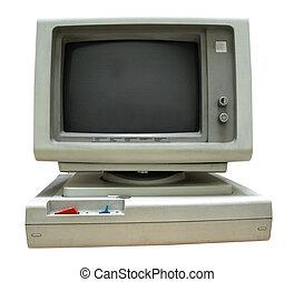 個人的, 型, スクリーン, コンピュータ