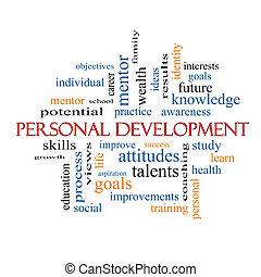 個人的, 開発, 概念, 単語, 雲