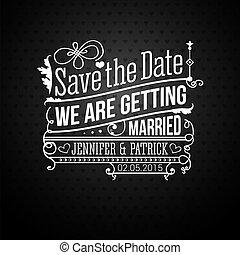個人的, holiday., invitation., ベクトル, 結婚式, 日付, を除けば