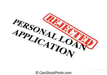 個人, 應用, 貸款, 拒絕