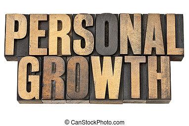個人, 類型, 木頭, 成長