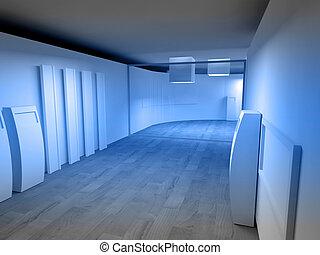 候診室, 在, a, 醫院, 或者, 門診部, 由于, 空的空間