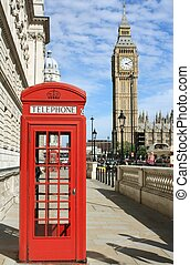 倫敦, 紅的電話亭