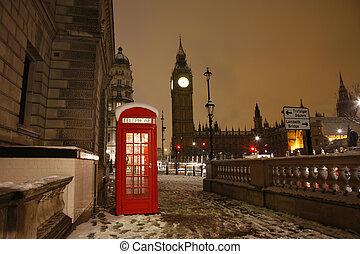 倫敦, 電話亭, 以及, 大本鐘