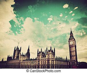 倫敦, the, uk., 大本鐘, the, 宮殿, ......的, westminster