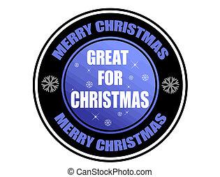 偉人, クリスマス, ラベル