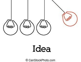 偉人, デザイン, 考え