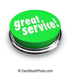 偉人, フィードバック, サービス, ボタン, 応答, レビュー