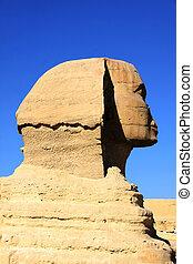 偉人, 古代, スフィンクス, エジプトのピラミッド, 彫刻