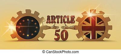 偉人, 比喩, relationships., 組合, brexit, 英国, ヨーロッパ
