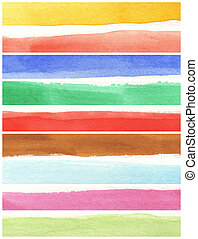 偉人, 水彩画, 背景, -, 水彩画, ペンキ, 上に, a, 大変な手ざわり, ペーパー