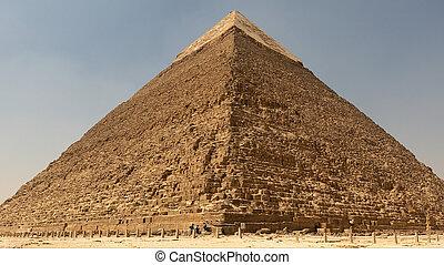 偉人, 青, ピラミッド, 空