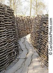 偉人, bayernwald, ドイツ語, trenches, フランダース, ベルギー, 世界, 戦争