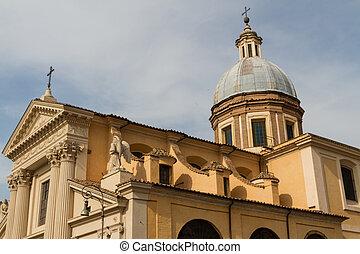 偉人, italy., ローマ, 中心, 教会