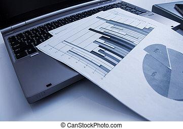 做廣告, 商業, 促進, 數字, 銷售, concept., 改善, 統計數字